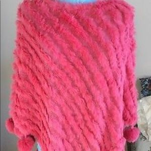 Fluffy Soft Pink Ostrich Fur Collar Poncho